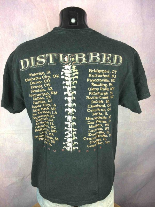 DISTURBED T Shirt Indestructible Tour 2009 Music as a Weapon Concert US Concert Gabba Vintage 1 scaled - DISTURBED T-Shirt Indestructible Tour 2009