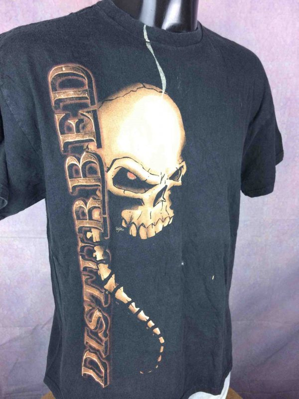 DISTURBED T Shirt Indestructible Tour 2009 Music as a Weapon Concert US Concert Gabba Vintage 3 scaled - DISTURBED T-Shirt Indestructible Tour 2009
