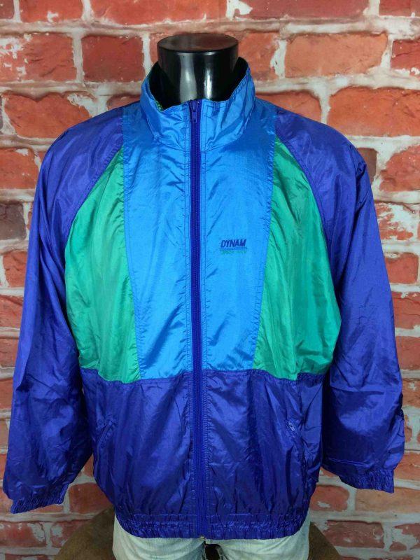 DYNAM Jacket Veste Chaqueta True Vintage 90s Old School Double Lining Nylon 2 scaled - DYNAM Veste Vintage 90s Windbreaker Nylon