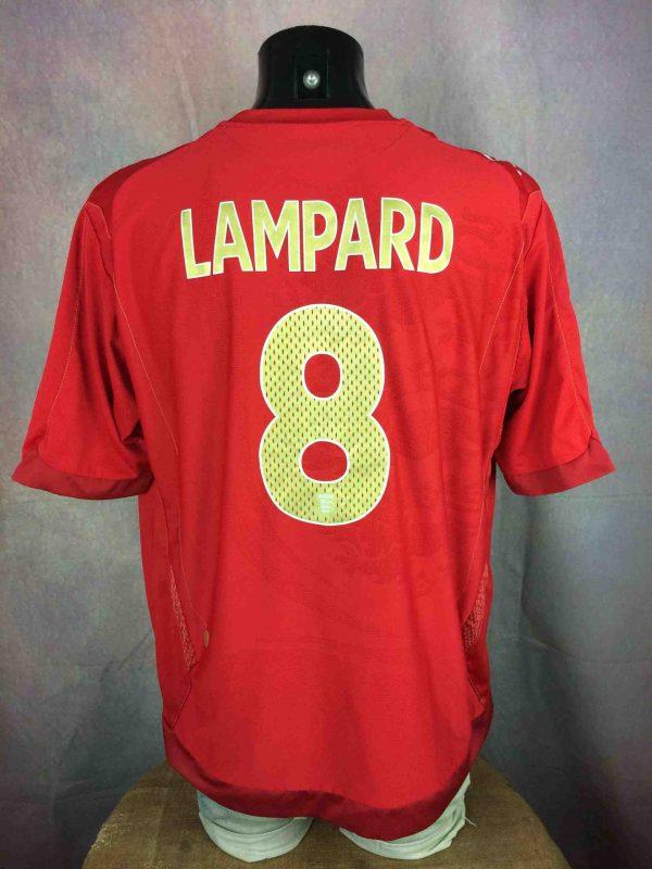 LAMPARD Maillot England Umbro #8 2006 2008