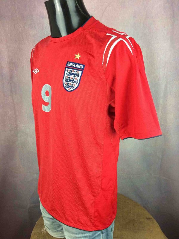 ENGLAND Jersey Umbro Rooney 9 2004 2006 Gabba Vintage 3 scaled - Maillot Rooney Umbro England #9 2004 Football