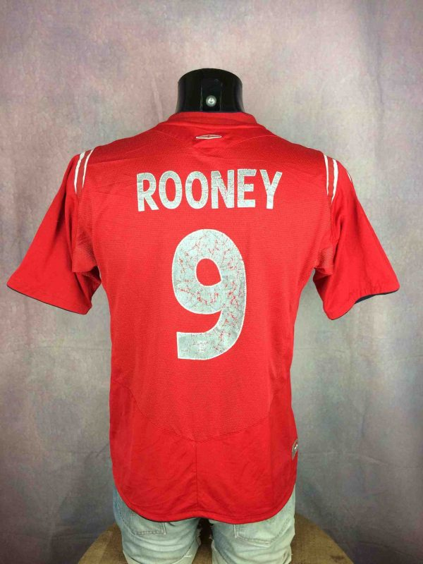 Maillot Rooney Umbro England #9 2004 Football - Gabba...