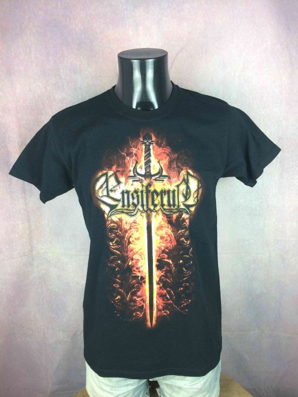 ENSIFERUM T Shirt Sword Fire Death Metal Gabba Vintage 2 scaled - ENSIFERUM T-Shirt Sword Fire Death Metal