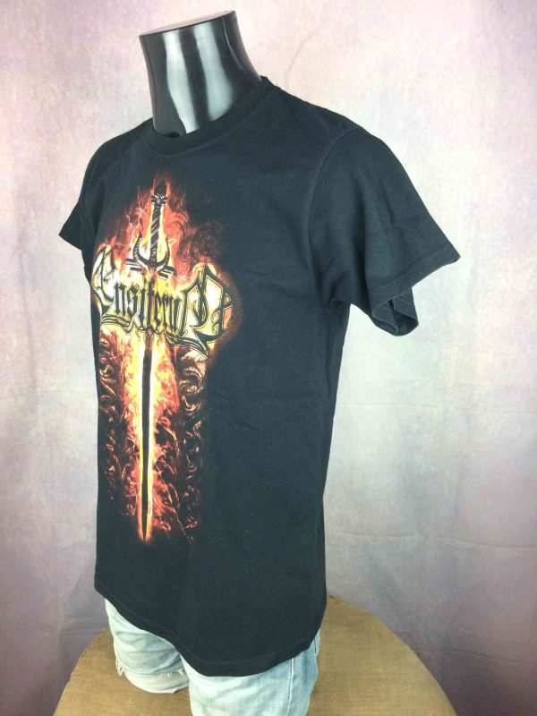 ENSIFERUM T Shirt Sword Fire Death Metal Gabba Vintage 3 scaled - ENSIFERUM T-Shirt Sword Fire Death Metal