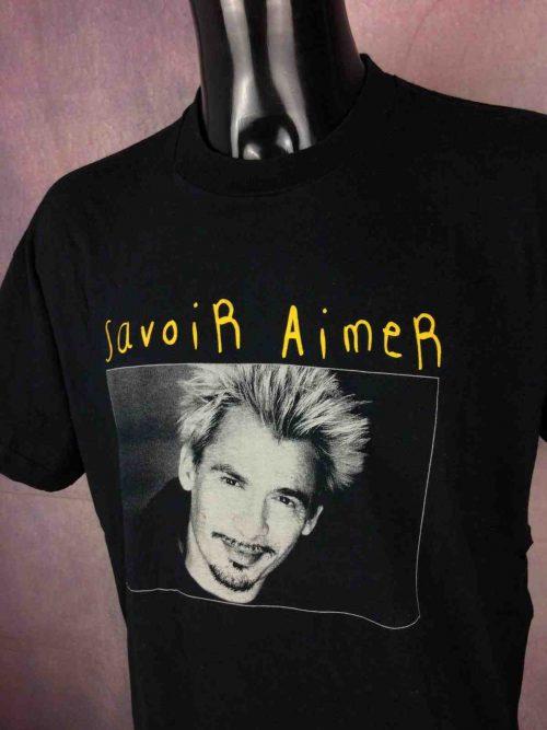 T-Shirt FLORENT PAGNY, édition Tour 1998 Savoir Aimer, double face avec liste des dates au dos, marque Screen Stars, Véritable vintage années 90s, Concert Live France