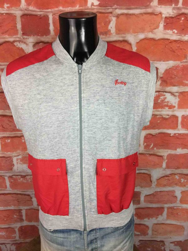 FOOTING Gilet Vintage 80s Made in France Gabba Vintage 2 scaled - FOOTING Gilet Vintage 80s Made in France