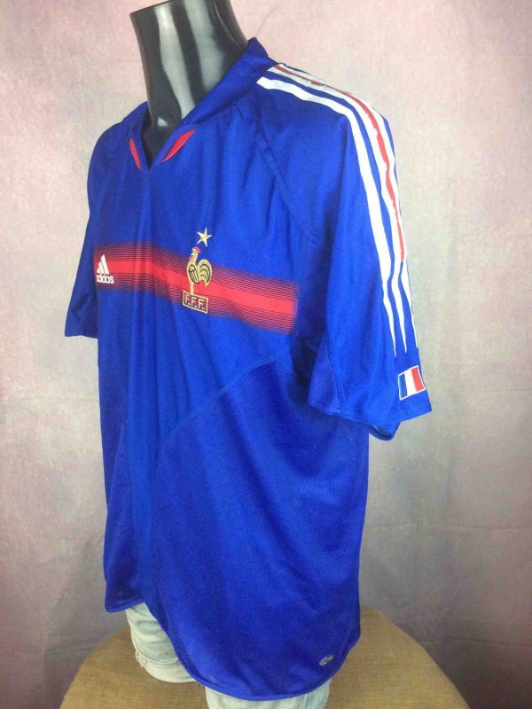 FRANCE Jersey Adidas Home 2004 2006 FFF VTG Gabba Vintage 3 scaled - FRANCE Maillot Adidas Home 2004 Vintage Foot