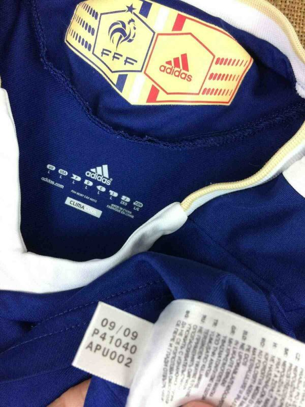 FRANCE Jersey Adidas Home 2009 2011 FFF L Gabba Vintage 1 - FRANCE Maillot Adidas Home 2009 2011 FFF Foot