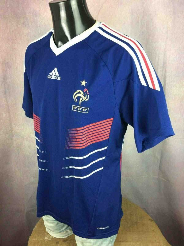 FRANCE Jersey Adidas Home 2009 2011 FFF L Gabba Vintage 3 - FRANCE Maillot Adidas Home 2009 2011 FFF Foot
