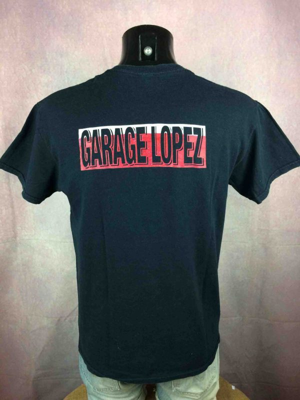 GARAGE LOPEZ T Shirt Logo Double Sided Punk Rockn Roll Hardcore V8 Motors Black Gabba Vintage 1 scaled - GARAGE LOPEZ T-Shirt Logo Punk Rock V8 Motors