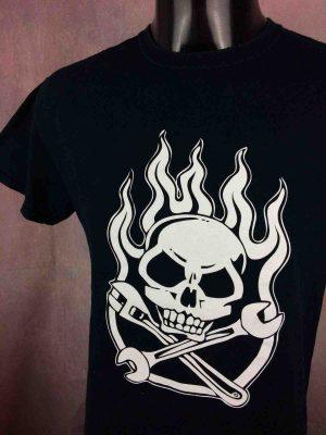 T-Shirt GARAGE LOPEZ, double face avec deux visuels différents, Official License, Punk Rock'n Roll Hardcore V8 Motors Black