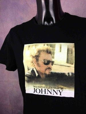 T-Shirt JOHNNY HALLYDAY, édition On A Tous Quelque Chose De Johnny, Official License, marque JH, année 2018, Legends Rock France Concert
