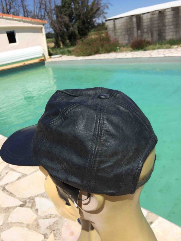 HARLEY DAVIDSON Casquette Official 90s Cuir Gabba Vintage 4 scaled - HARLEY DAVIDSON Casquette Official 90s Cuir