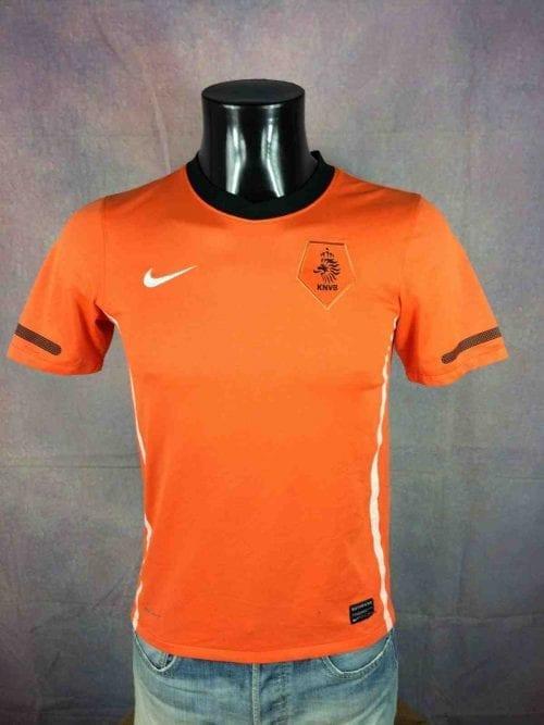 Maillot Holland, version Home, saison 2010 2012, de marque Nike, Technologie Dri-Fit, Taille S, Couleur Orange - Noir - Blanc, World Cup Nederland KNVBFootball Homme