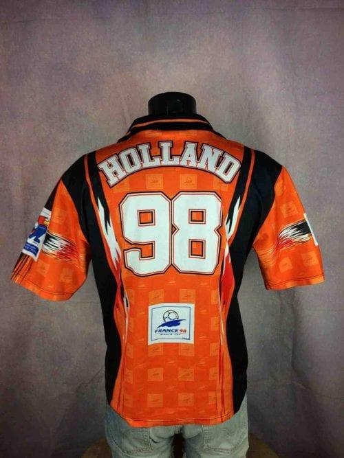 Maillot Holland, World Cup 1998, Official Football Licensed, Vintage Années 90, Taille M, Couleur Orange, Noir, Blanc, Jersey Hollande Netherlands Mundial Coupe du Monde Football Homme