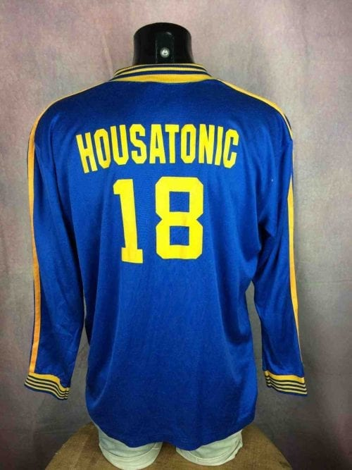 Maillot HOUSATONIC, Véritable vintage années 80, Made in USA, marque Cannon, Porté N °18, Jersey Trikot Camiseta Football