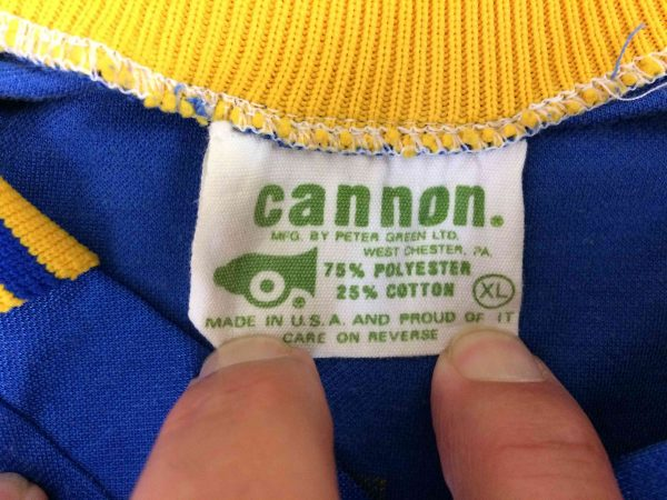 HOUSATONIC Jersey Cannon VTG 80s Made in USA Gabba Vintage 4 scaled - HOUSATONIC Jersey Cannon VTG 80s Made in USA