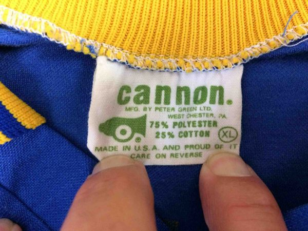 HOUSATONIC Jersey Cannon VTG 80s Made in USA Gabba Vintage 4 scaled - HOUSATONIC Maillot Vintage 80s USA Football
