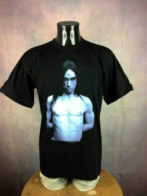 T-Shirt IGGY POP, édition American Caesar Tour 1993, double face avec dates de la tournée au dos, Under License to Brockum, Véritable vintage années 90, Concert Rock Stooges