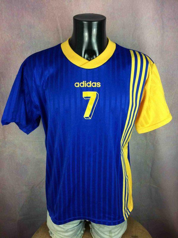 Maillot ADIDAS , Véritable vintage années 90s, Made in South Africa, Porté N°7, Jersey Camiseta Trikot Football