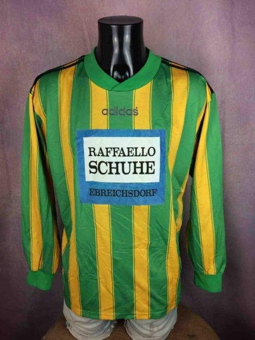 Maillot Adidas, Made in England, Véritable vintage années 90s, équipe ASK EBREICHSDORF, Porté en match N°2, Autriche, Jersey Camiseta Trikot Football