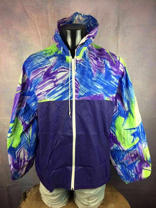 EXEL Rain Jacket Vintage 90s Rave Y2K Design - Gabba Vintage