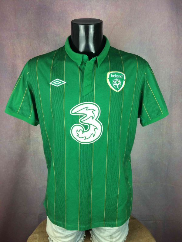 IRELAND Team Jersey 2011 2012 Home Umbro - Gabba Vintage