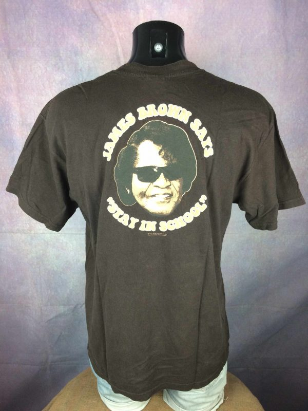 JAMES BROWN T Shirt Stay In School Official Gabba Vintage 1 scaled - JAMES BROWN T-Shirt Stay In School Official