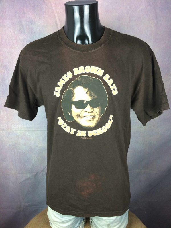 JAMES BROWN T Shirt Stay In School Official Gabba Vintage 2 scaled - JAMES BROWN T-Shirt Stay In School Official