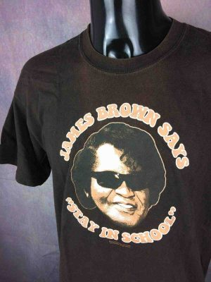 JAMES BROWN T Shirt Stay In School Official Gabba Vintage 3 scaled - JAMES BROWN T-Shirt Stay In School Official