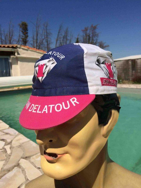 CasquetteJEAN DELATOUR Team, marque Biemme, véritable vintage année 2003, équipe ayant participé au Tour de France, Cyclisme Eroica Vélo Top Cap Gorra Hat
