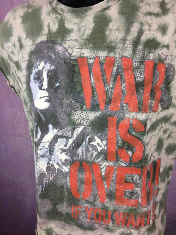 JOHN LENNON T Shirt War Is Over Zion Rootswear Song Tie Dye Official License Ono Gabba Vintage 3 scaled - JOHN LENNON T-Shirt War Is Over Tie Dye