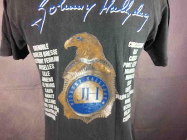 JOHNNY HALLYDAY T Shirt True Vintage 1999 Tour Live Concert Rock France Rare S 25E 1 scaled - JOHNNY HALLYDAY T-Shirt Vintage 1999 Tour
