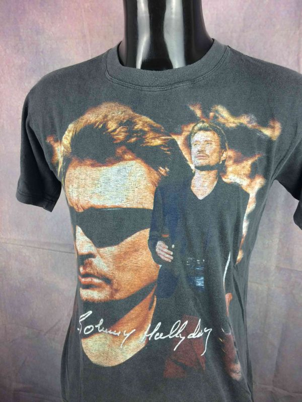 JOHNNY HALLYDAY T Shirt True Vintage 1999 Tour Live Concert Rock France Rare S 25E 3 scaled - JOHNNY HALLYDAY T-Shirt Vintage 1999 Tour
