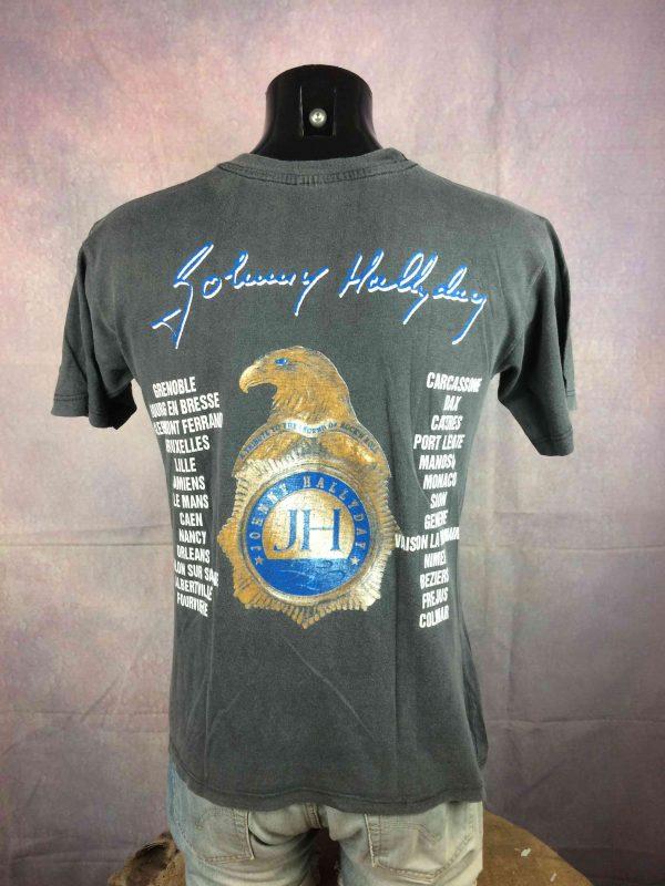 JOHNNY HALLYDAY T Shirt True Vintage 1999 Tour Live Concert Rock France Rare S 25E 4 scaled - JOHNNY HALLYDAY T-Shirt Vintage 1999 Tour