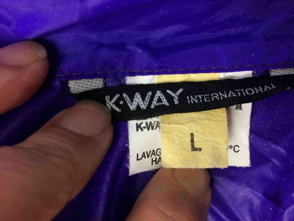 K WAY International Rain Jacket Vintage 90s Gabba Vintage 2 scaled - K-WAY International Veste Impermeable Vintage Années 90s Nylon Capuche