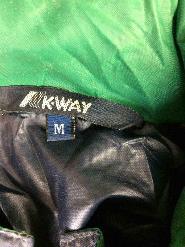 K WAY Rain Jacket Vintage 90s Made in CEE Gabba Vintage 1 scaled - K-WAY Veste Impermeable Vintage 90s Nylon