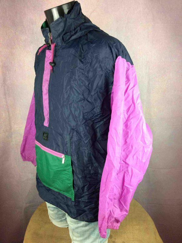 K WAY Rain Jacket Vintage 90s Made in CEE Gabba Vintage 6 scaled - K-WAY Veste Impermeable Vintage 90s Nylon