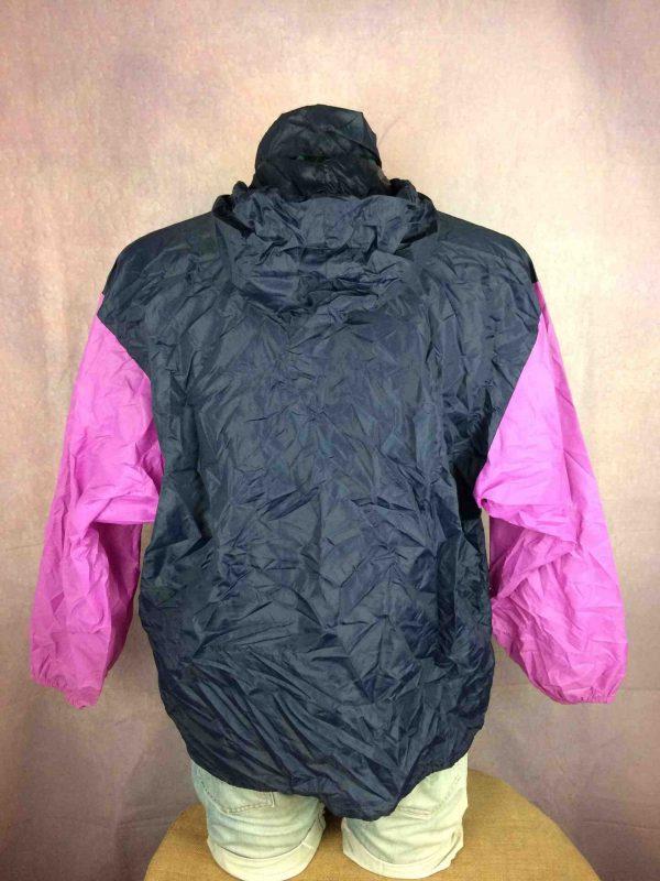 K WAY Rain Jacket Vintage 90s Made in CEE Gabba Vintage 7 scaled - K-WAY Veste Impermeable Vintage 90s Nylon