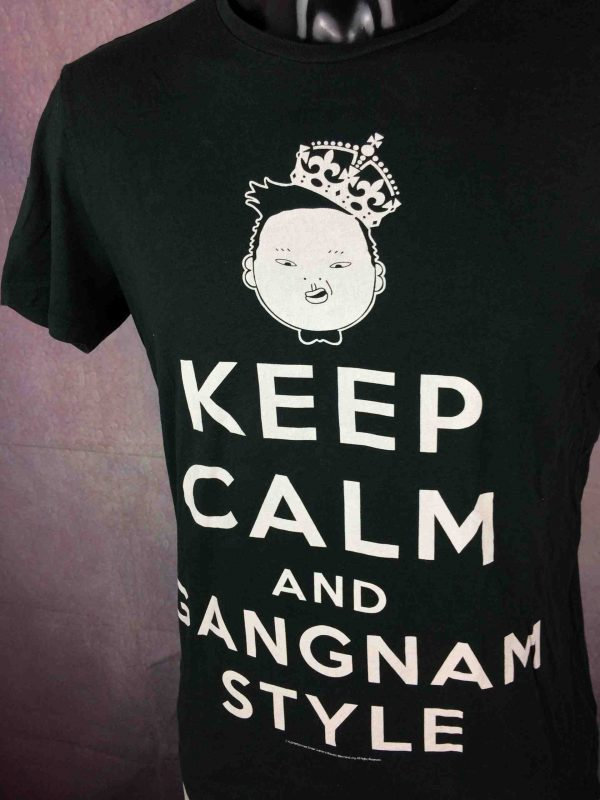 T-Shirt KEEP CALM AND GANGNAM STYLE , Official License, Asian K Pop Song Dance Psy