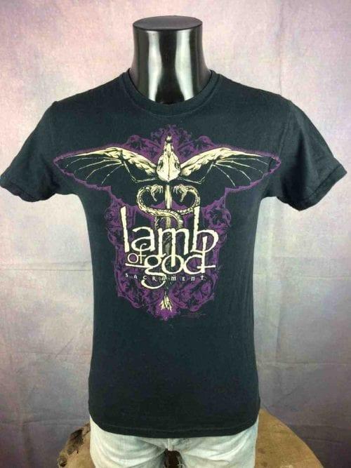 T-Shirt LAMB OF GOD, édition Sacrament 2007, Official License, de marque Hanes, Promo Heavy Metal Thrash