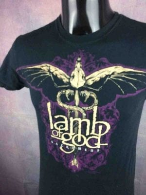 T-Shirt LAMB OF GOD, édition Sacrament 2007, Official License, de marque Hanes, Promo Heavy Metal Thrash