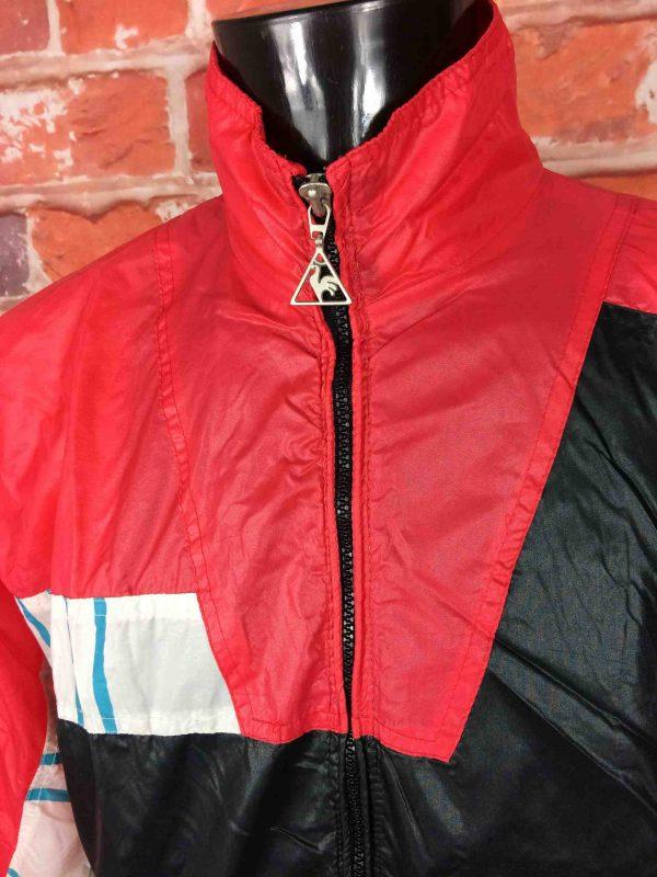 LE COQ SPORTIF Veste 90s Windbreaker Nylon Gabba Vintage 2 scaled - LECOQSPORTIF Veste Vintage Année 90s Wind