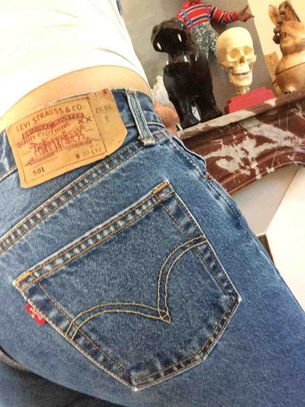LEVI STRAUSS 501 Ourlet Light VTG W30 L32 rotated - LEVIS 501 Light Blue Vintage W30 L32 14