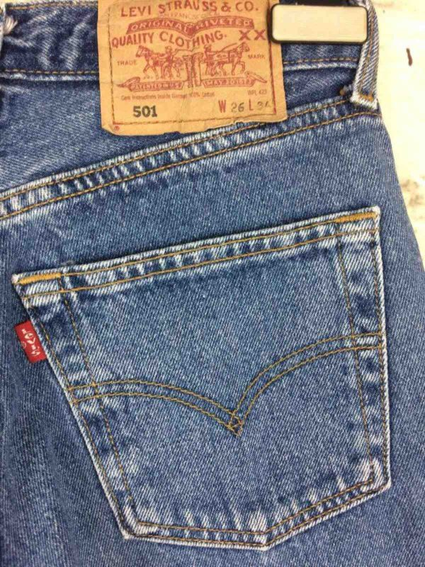 LEVI STRAUSS 501 Vintage W26 L36 Light Blue 8 Gabba Vintage 4 rotated - LEVI STRAUSS 501 Vintage W26 L36 Light Blue 8