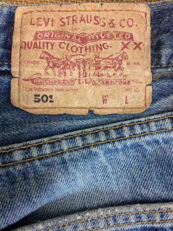 LEVI STRAUSS 501 Vintage W31 L32 Destroy 9 Gabba Vintage 2 rotated - LEVI STRAUSS 501 Vintage W31 L32 Destroy 9