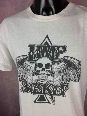T-Shirt LIMP BIZKIT, édition Till Death, Concert Black Metal Logo Skull Wings Metal Biker Skate