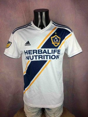 Maillot LOS ANGELES GALAXY, Floqué Ibrahimovic N°9, version Home, saison 2018 2019, de marque Adidas daté du 03/18, MLS Football Jersey Camiseta Maglia Trikot Football