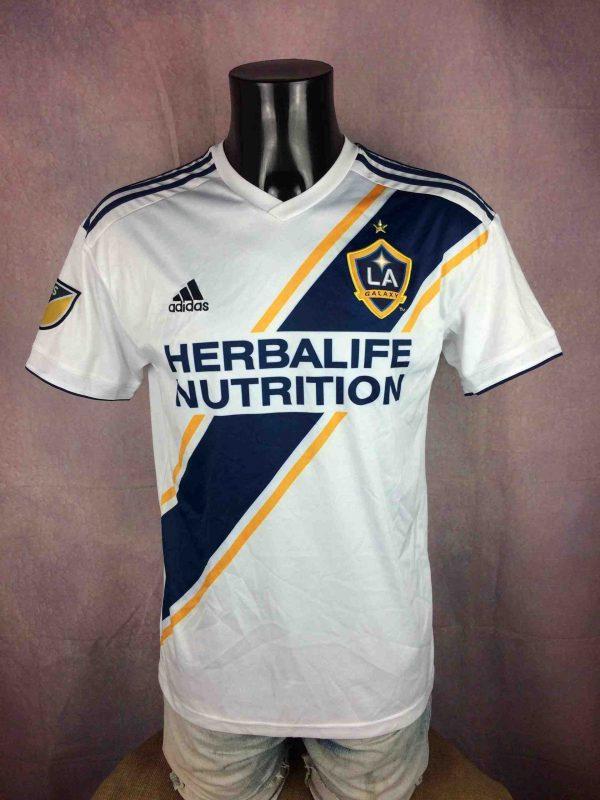 Maillot LOS ANGELES GALAXY, Floqué Ibrahimovic N°9, version Home, saison 2018 2019, de marque Adidas daté du 03/18, MLS Football Jersey Camiseta Maglia Trikot Football