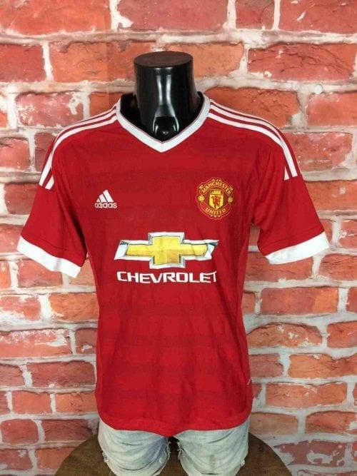Maillot Manchester United, saison 2015 2016, version Home, réalisé par Adidas et daté du 09/15, avec technologie Climacool, Premier League Jersey Camiseta Trikot Football